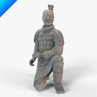 kneeling archer 3d model