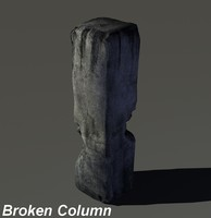 Low poly Broken Column