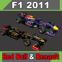 2011 red bull renault 3d 3ds