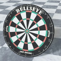 Dart Board High Poly
