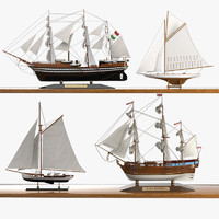 Caroti Sailboat Ship Set