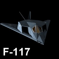 3d model lockheed martin f-117 nighthawk