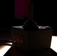 3d atari joystick model