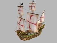 Medieval big Warship