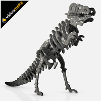 dinosaur sculpture statue 3d model