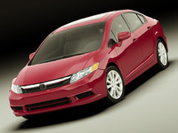3d model honda civic 2012