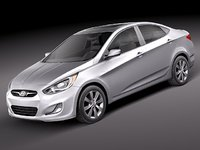 3d hyundai accent 2012 sedan
