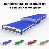 large industrial building 01 3d max