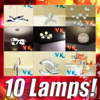 10 modern pendant lamp 3d model