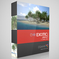 volume 15 coconut tree 3d max
