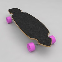 3d model longboard
