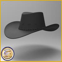 3d model hat cowboy cow