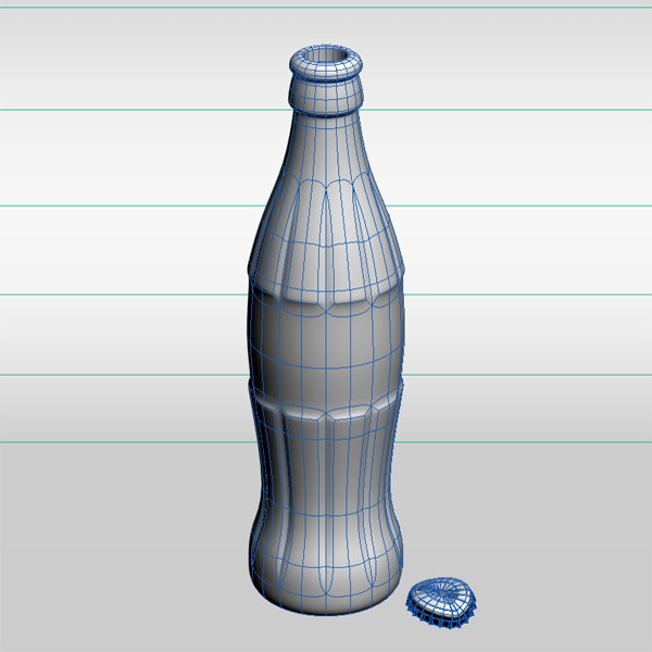 3d coke bottle model - Coke Bottle... by ElmarNieser