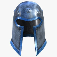 3d knight helmet