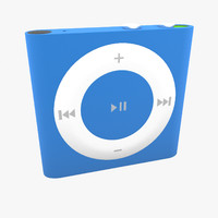 3d model of apple ipod shuffle 4th