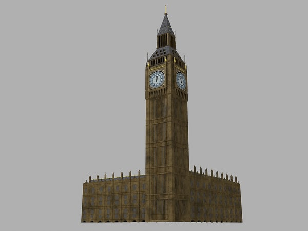 big ben 3d model - Big Ben... by RichLT