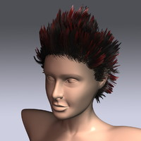 hair virtual 3d model