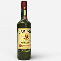 3d max irish whiskey bottle 3