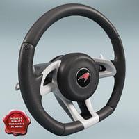 3d mclaren steering wheel model