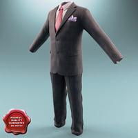 3d model men suit v4