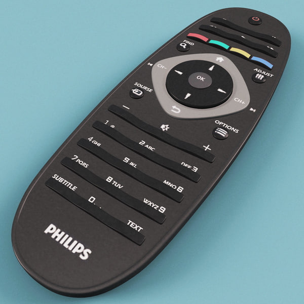 philips tv remote 3d model - Philips TV Remote... by 3d_molier
