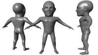 maya humanoid basemesh