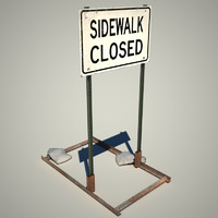 Truax Studio Sidewalk Closed SIgn