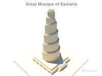 3d great minaret spiralling