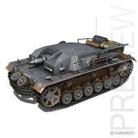 stug b - sturmgeschütz 3d model