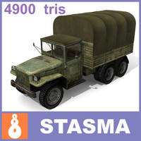 usa military truck 3d 3ds