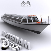 3d amsterdam cruise boat