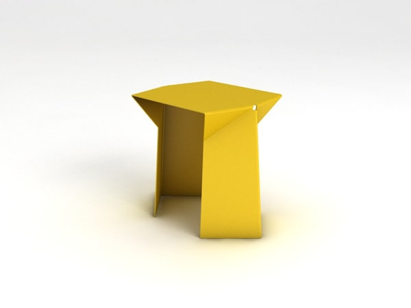 laser bent 3d c4d - Bent Table & Chair... by Bara_Boom