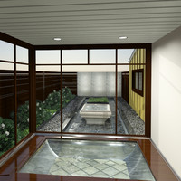bath garden 3d model