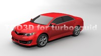 toyota camry sedan 2012 3d model