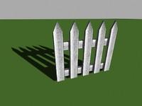 free wood fence 3d model