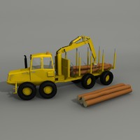 forwarder logs 3d obj