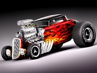 3d 3ds 1933 33 hot rod