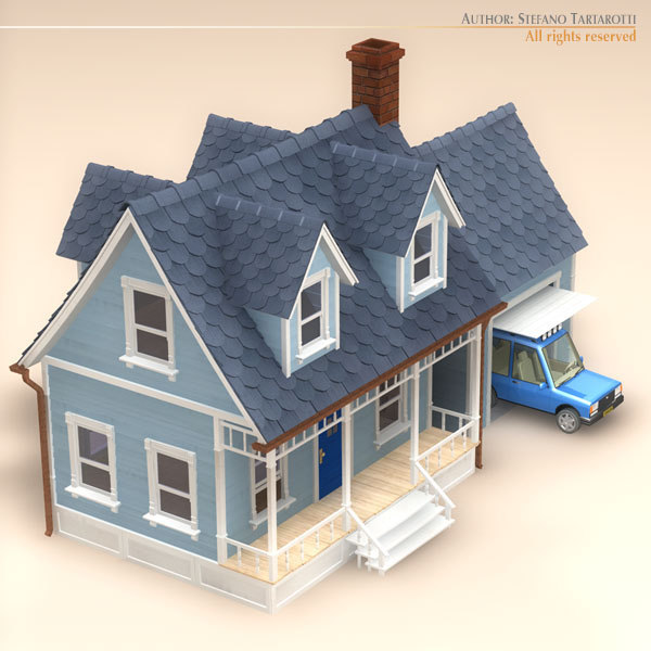 3d model of car garage for 3d garage builder