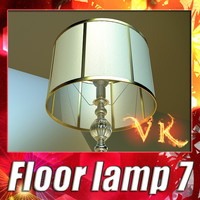 modern floor lamp 07 3d 3ds