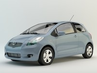 3d toyota yaris model