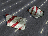 road block 3d max
