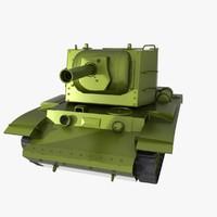 Russian kv-2 ww2 Tank