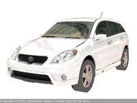 3d model of toyota matrix
