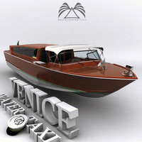 3dsmax venice water taxi