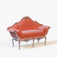 oak degas sofa 3d obj
