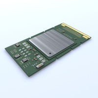 intel itanium 2 3d model