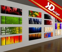 3d model modern paintings