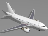 airbus a318 airliner commercial 3d model