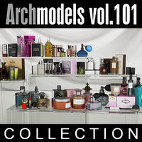 archmodels vol 101 cosmetics 3d c4d