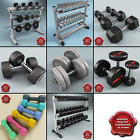 dumbbells v3 3d 3ds